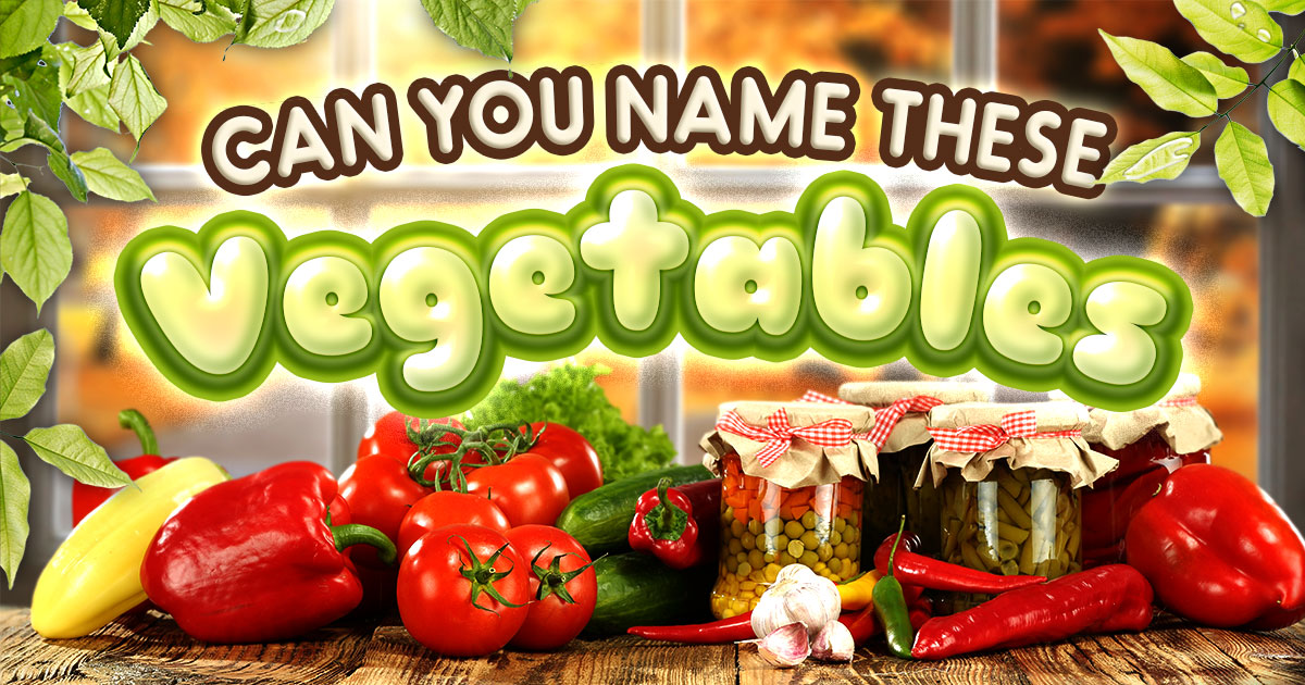Can You Name These Vegetables?