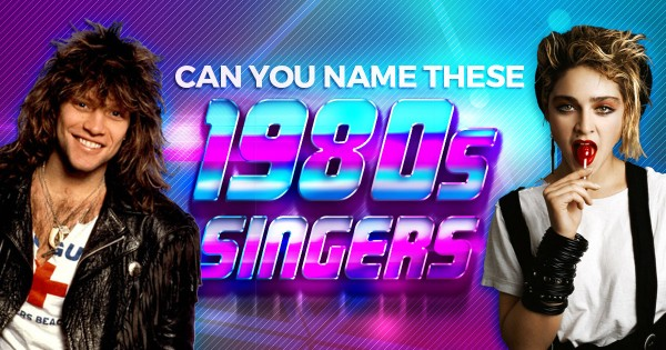 Can You Name These 1980s Singers?