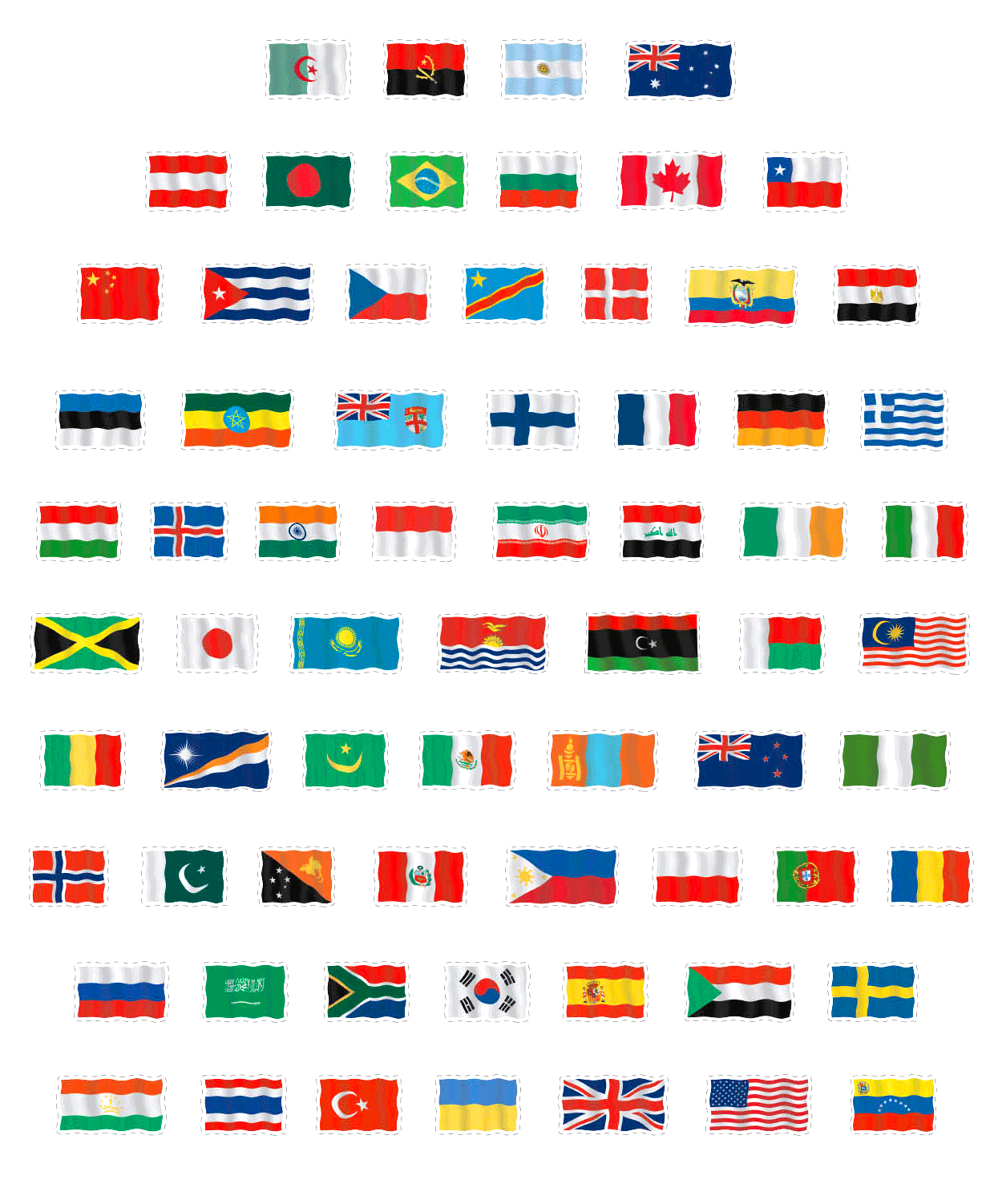 Can You Name These Flags Of The World?